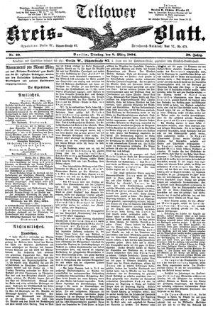 Teltower Kreisblatt vom 08.03.1894