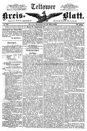 Teltower Kreisblatt vom 10.03.1894