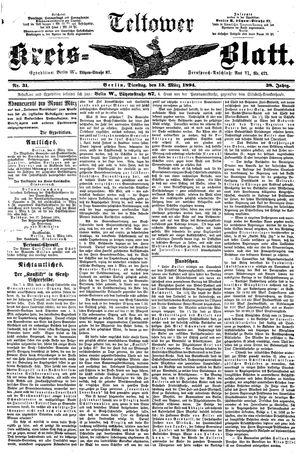 Teltower Kreisblatt on Mar 13, 1894