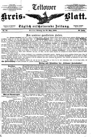 Teltower Kreisblatt vom 18.03.1894