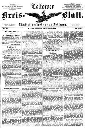 Teltower Kreisblatt vom 22.03.1894