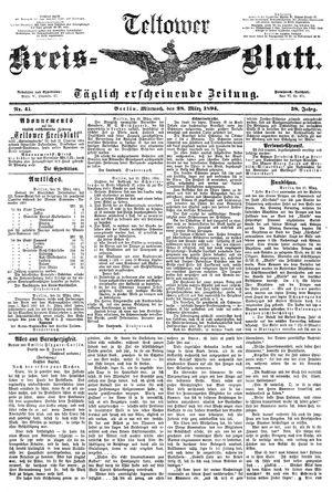 Teltower Kreisblatt vom 28.03.1894