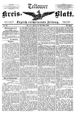 Teltower Kreisblatt vom 30.03.1894
