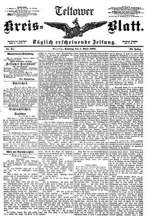 Teltower Kreisblatt vom 01.04.1894