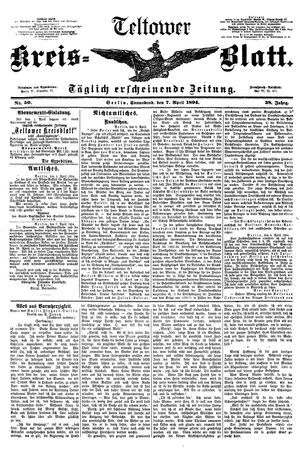 Teltower Kreisblatt vom 07.04.1894