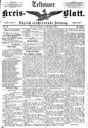 Teltower Kreisblatt vom 10.04.1894