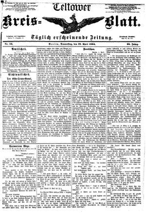 Teltower Kreisblatt vom 12.04.1894
