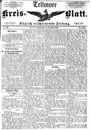Teltower Kreisblatt on Apr 14, 1894