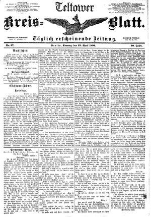 Teltower Kreisblatt vom 15.04.1894
