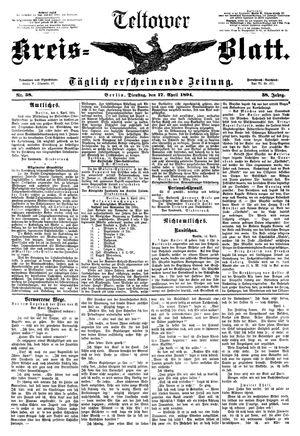 Teltower Kreisblatt vom 17.04.1894