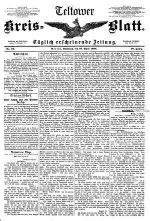 Teltower Kreisblatt vom 18.04.1894