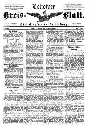 Teltower Kreisblatt vom 20.04.1894
