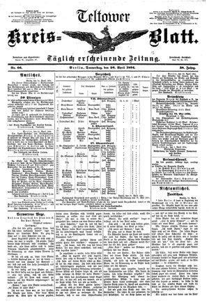 Teltower Kreisblatt vom 26.04.1894