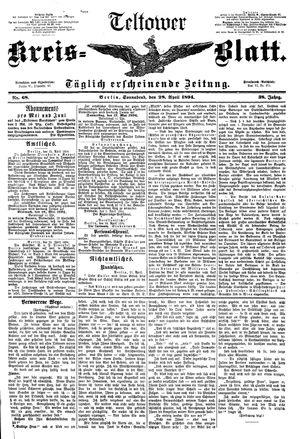 Teltower Kreisblatt vom 28.04.1894