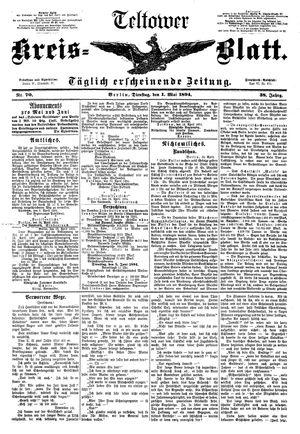 Teltower Kreisblatt on May 1, 1894