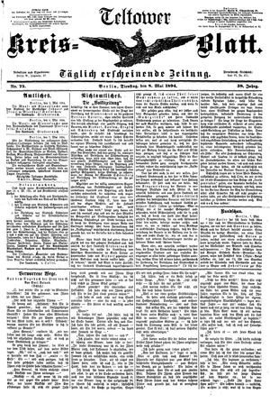 Teltower Kreisblatt vom 08.05.1894