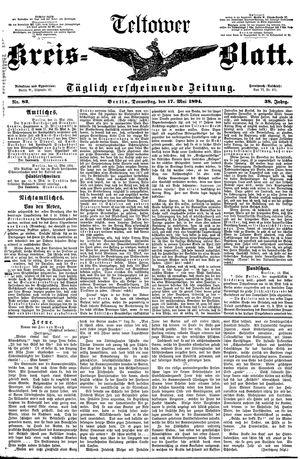 Teltower Kreisblatt vom 17.05.1894