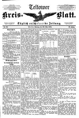 Teltower Kreisblatt vom 20.05.1894
