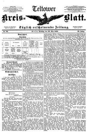 Teltower Kreisblatt vom 22.05.1894