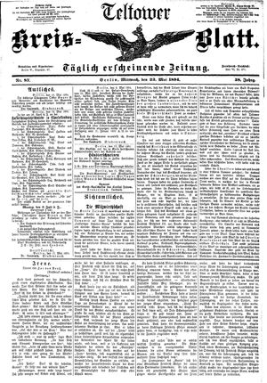Teltower Kreisblatt vom 23.05.1894