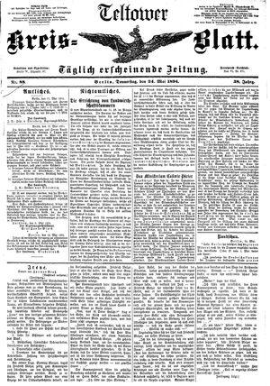 Teltower Kreisblatt vom 24.05.1894