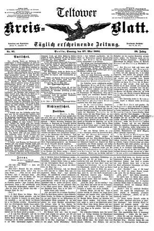 Teltower Kreisblatt vom 27.05.1894