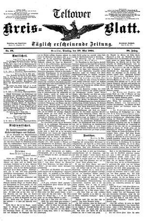 Teltower Kreisblatt vom 29.05.1894