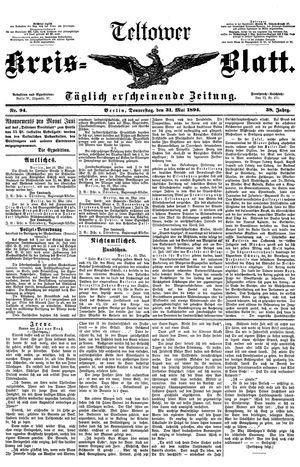 Teltower Kreisblatt vom 31.05.1894