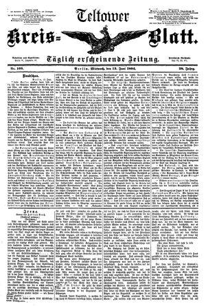 Teltower Kreisblatt vom 13.06.1894
