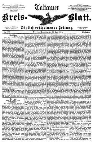 Teltower Kreisblatt vom 14.06.1894