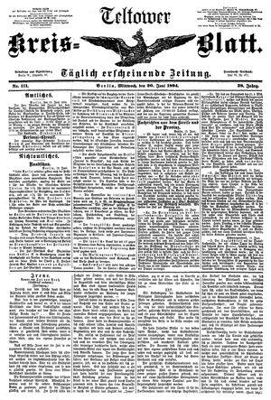 Teltower Kreisblatt vom 20.06.1894