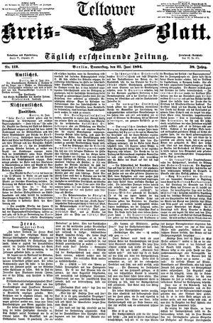 Teltower Kreisblatt vom 21.06.1894