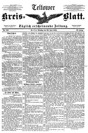 Teltower Kreisblatt vom 26.06.1894
