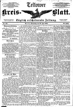 Teltower Kreisblatt vom 28.06.1894