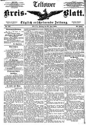 Teltower Kreisblatt vom 29.06.1894