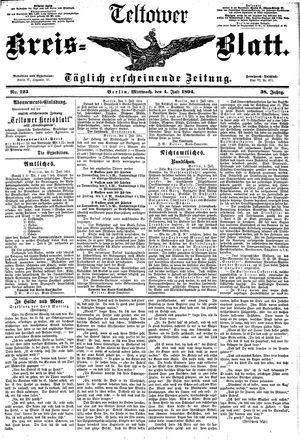 Teltower Kreisblatt vom 04.07.1894