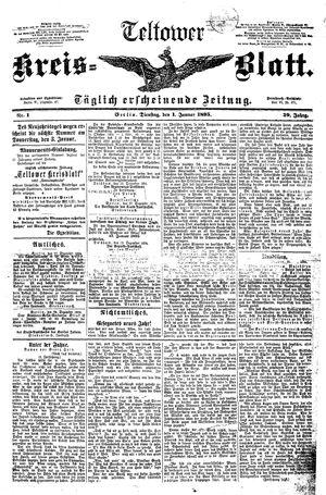 Teltower Kreisblatt vom 01.01.1895