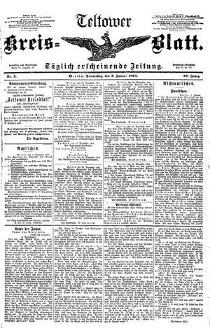 Teltower Kreisblatt vom 03.01.1895