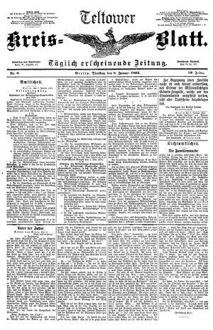 Teltower Kreisblatt vom 08.01.1895