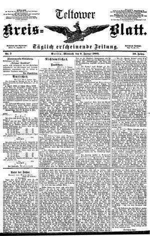 Teltower Kreisblatt on Jan 9, 1895