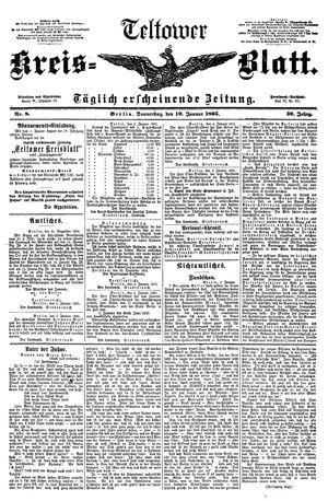 Teltower Kreisblatt vom 10.01.1895