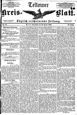 Teltower Kreisblatt vom 12.01.1895