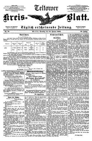 Teltower Kreisblatt vom 15.01.1895