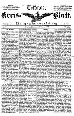 Teltower Kreisblatt vom 16.01.1895