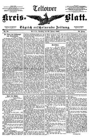 Teltower Kreisblatt vom 22.01.1895