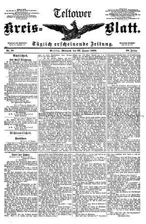 Teltower Kreisblatt on Jan 23, 1895