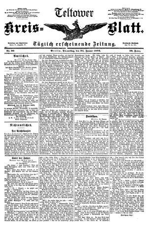 Teltower Kreisblatt vom 24.01.1895