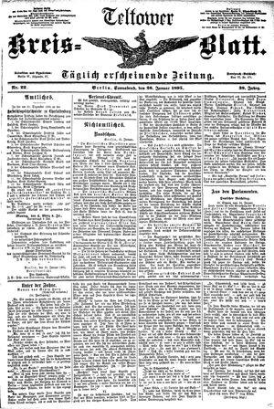 Teltower Kreisblatt vom 26.01.1895