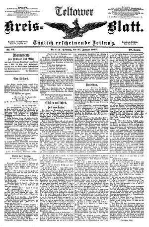 Teltower Kreisblatt vom 27.01.1895