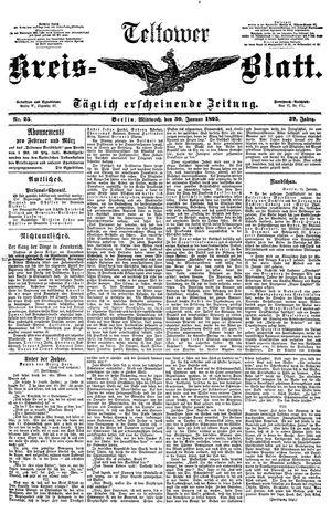 Teltower Kreisblatt vom 30.01.1895